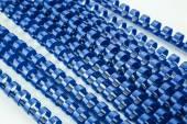 Blue binding springs — Stock Photo