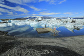 Jokulsarlon is a large glacial lake in Iceland — Stock Photo