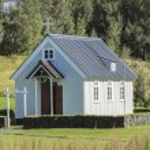 Traditional icelandic houses in Skogar Folk Museum, Iceland — Stock Photo #55500741