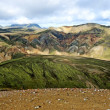 Landmannalaugar colorful mountains landscape, Brennisteinsalda view, Iceland — Stock Photo #55500815
