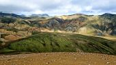 Landmannalaugar colorful mountains landscape, Brennisteinsalda view, Iceland — Stock Photo