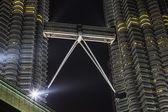 KUALA LUMPUR, MALAYSIA - MARCH 11 2014. Petronas Twin Towers at night on March 11, 2014 in Kuala Lumpur. — Stock Photo