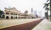 Kuala Lumpur Malezya - 13 Mart 2014. Sultan Abdul Samad bina. — Stok fotoğraf