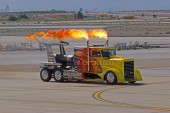 Jet Truck performs high speed race at 2015 Yuma Air Show — Stok fotoğraf
