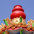 The top of the red gourd Furnaces for burning paper money and gold Chinese . — Stock Photo #64663103