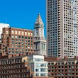 Boston waterfront with skyscrapers and bridge — Stock Photo #72180231