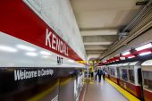 The T subway red line station in Boston — Stock Photo