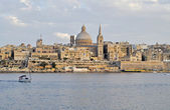 View of Malta's capital city Valletta. — Foto Stock