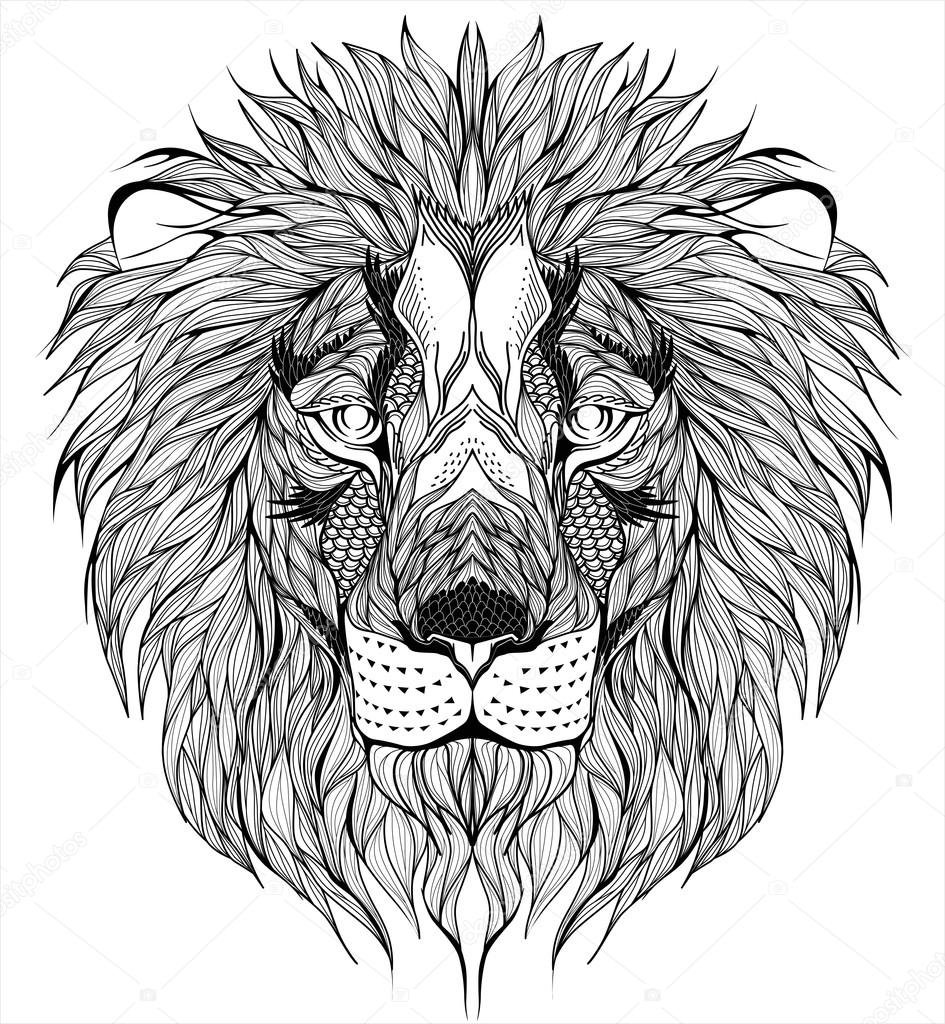 Tatouage De Tte Lion Image Vectorielle DianaPryadieva 67081341