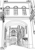 Street in St. Petersburg. illustration — Stock Vector