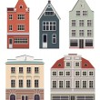 Set of the old Northern European buildings. — Stock Vector #68789925