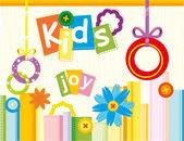 Kids Joy — Vector de stock
