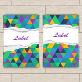 Card with Pattern of Colorful Lozenges — Vecteur