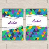 Card with Pattern of Colorful Lozenges — Cтоковый вектор