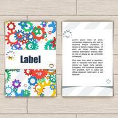 Card with Gears — Cтоковый вектор