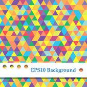 Fond de triangles colorés — Vecteur