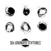 Set of Grunged Dots — Vettoriale Stock