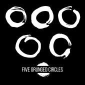 Set of Grunged Circles — Stock Vector