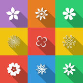 Set of Floral Buttons — Stock Vector