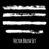 Set of four vector grunge brushes — Stock Vector