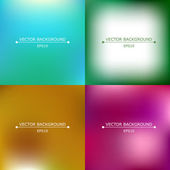Set of four bright blurry backgrounds — Stock Vector