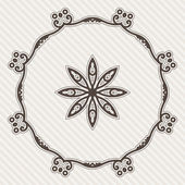 Filigree Flower Henna Pattern — Stock Vector