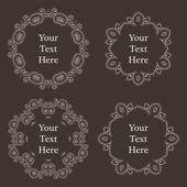 Vector ornate richly decorated vintage frame in Victorian style — Stock Vector