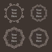 Vector ornate richly decorated vintage frame in Victorian style — Stock vektor