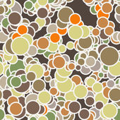 Vector seamless pattern of colored circles with contours — Vector de stock