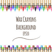 Vector colorful background with fence from wax pencils — Stock Vector