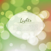 Stock fuzzy texture with bokeh effect and frame for text or title — Stock Vector