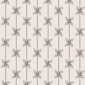 Black and White Vector Flower Pattern — Stock Vector
