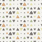 Vector seamless texture of hand-painted triangles — Stock Vector