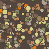 Vector seamless pattern of colored circles with contours — Stock Vector