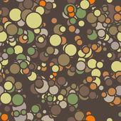 Modèle sans couture de vecteur de cercles colorés avec des contours — Vecteur