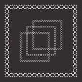 Set of intricate vector frames — Stock Vector
