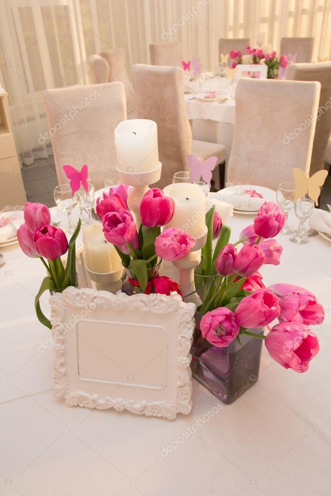 Matrimonio In Rosa : Tavola di nozze decorazione nei colori rosa
