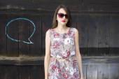 Girl in a dress — Стоковое фото