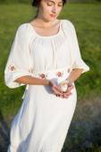 Girl in a meadow — Stock Photo