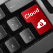 Keyboard red button cloud security — Stock Photo #52554371