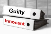 Office binders guilty innocent — Foto Stock