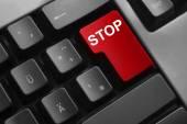 Tangentbord röda knappen stopp — Stockfoto