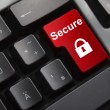 Keyboard red enter button secure — Stock Photo #54900011