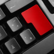 Grey keyboard empty red enter button — Stock Photo #64529379