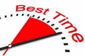 Clock with red seconds hand area best time illustration  — Stockfoto