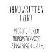 Handwritten Ink Alphabet Font — Stock Vector