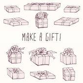 Box Packing Gift Set — Vecteur