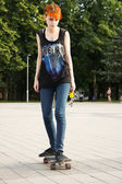 Paten kız — Stok fotoğraf