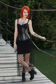 Pretty red hair girl — Stock Photo