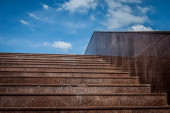 Marble stairs into the sky — Stock Photo